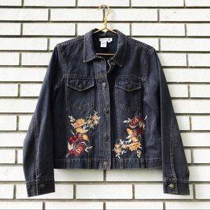 Coldwater Creek Embroidered Jean Jacket
